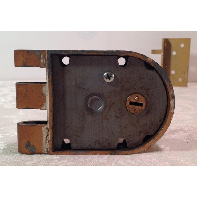 Mid-Century Modern Thumb Latch Lock Deadbolt For Sale In Dallas - Image 6 of 9