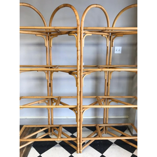 Palm Beach Style Rattan Shelving Unit For Sale In Greensboro - Image 6 of 12