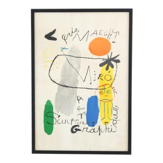 Joan Miro Galerie Maeght Stone Lithograph For Sale