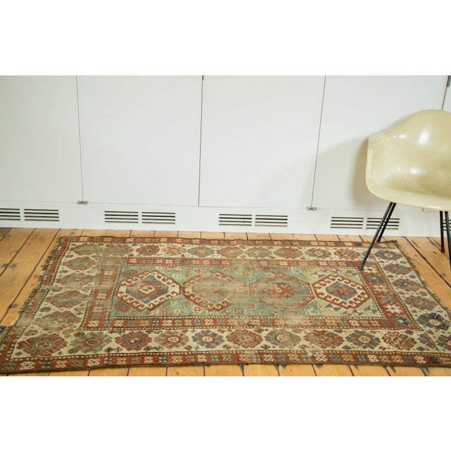 "Antique Kazak Rug - 4'2"" X 6'3"" - Image 2 of 9"