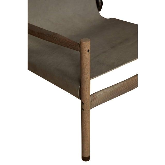 Pair of Erickson Aesthetics Oak Lounge - Image 3 of 6