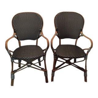 Frontgate Paris Bistro Armchairs - a Pair For Sale