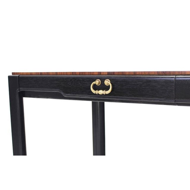 Rosewood Rosewood Top Mid-Century Modern Writing Table For Sale - Image 7 of 8