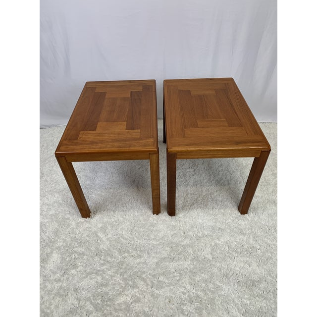 1960s 1960s Danish Mid-Century Modern Henning Kjaernulf for Vejle Stole Møbelfabrik Side Tables -- a Pair For Sale - Image 5 of 11