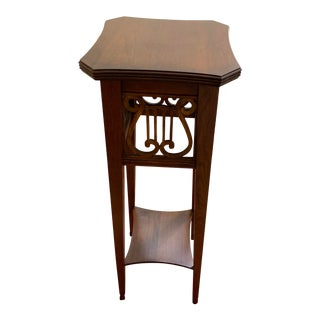Ethan Allen Lyre Plant Stand For Sale