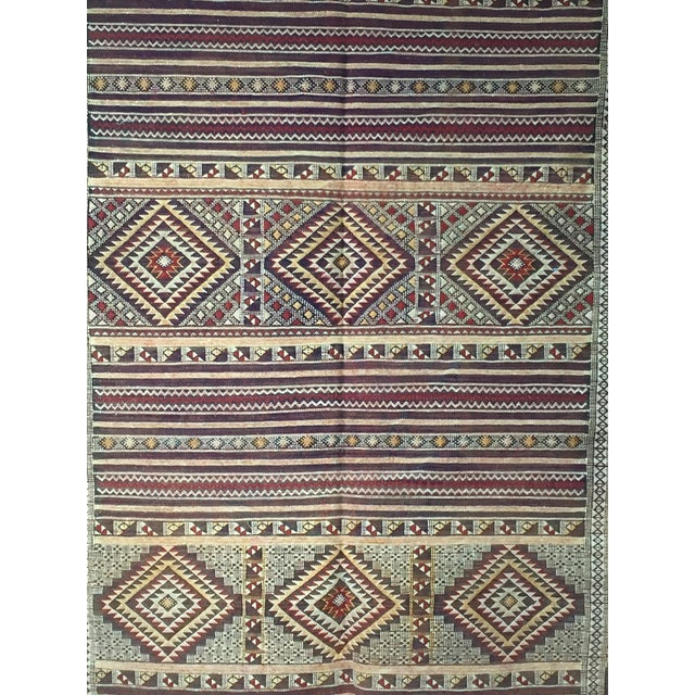 Zemmour Moroccan Wool Rug - 5′1″ × 7′5″ - Image 4 of 4