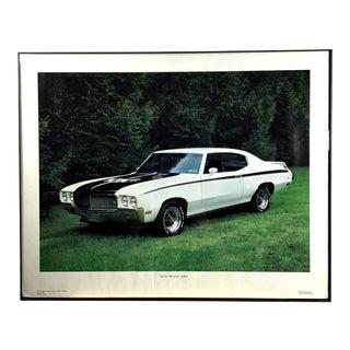 Vintage Glass Framed Poster Print 1970 Buick GSX For Sale