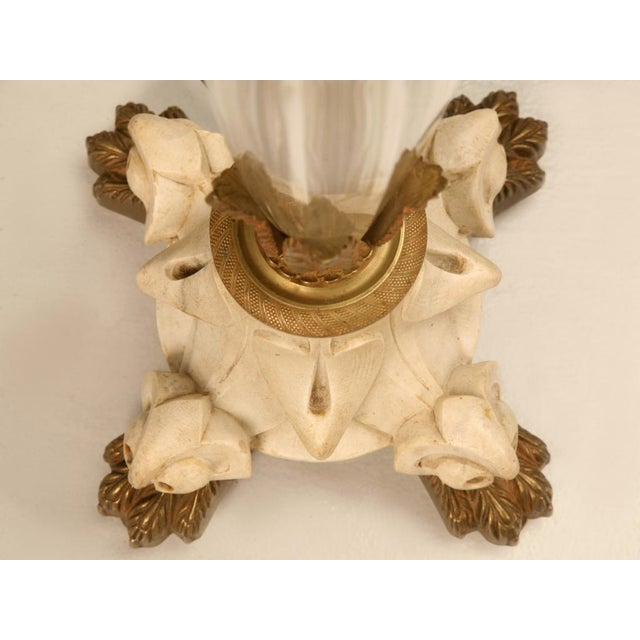 Gold Exquisite Vintage French Crystal, Bronze and Marble Table Lamp For Sale - Image 8 of 11
