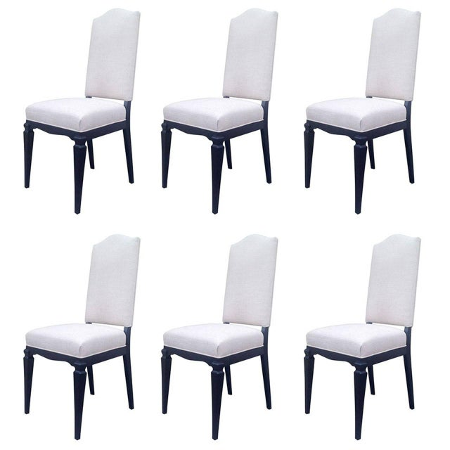 Dining Chairs Att. To André Arbus - Set of 6 For Sale
