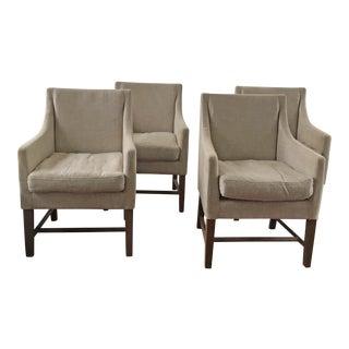 Restoration Hardware Beekman Fabric Armchairs - Set of 4