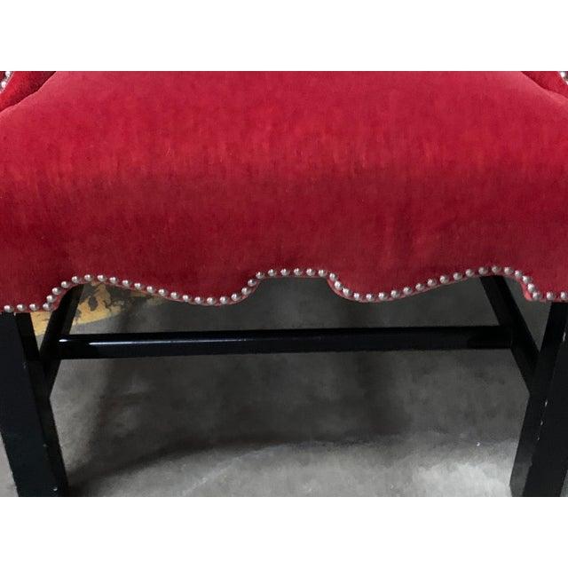 J Robert Scott Crimson Velvet Arm Chairs - a Pair For Sale In Houston - Image 6 of 13