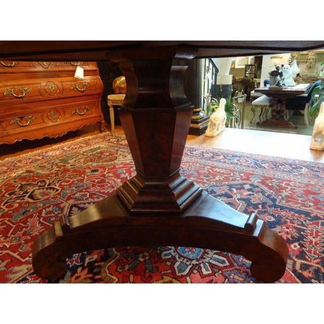 French 19th Century French Restauration Period Walnut Center Table For Sale - Image 3 of 11