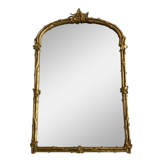 Antique French Wood Mirror For Sale