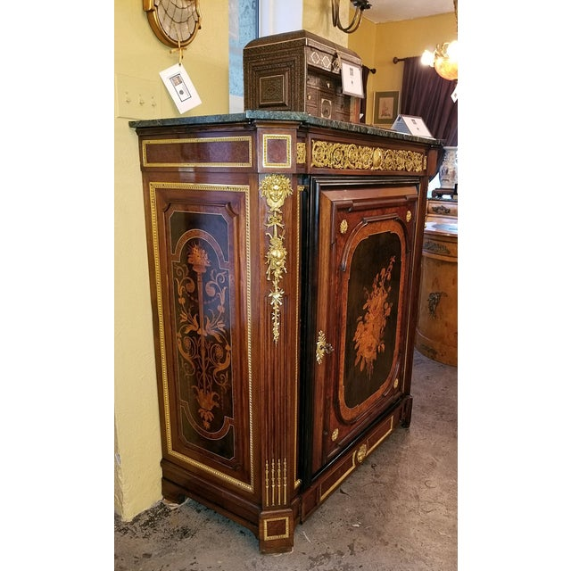 Wood 19th Century Louis XVI Style Cabinet - High Quality For Sale - Image 7 of 13