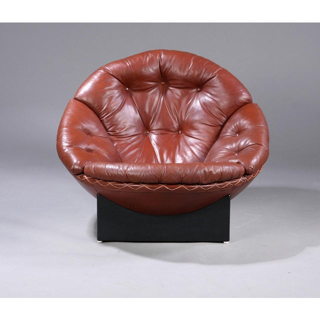 Animal Skin Rare Leather Lounge Chair by Illum Wikkelsø, 1970 For Sale - Image 7 of 7