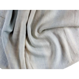 Italian Hand Dyed Raw Silk Fabric 1 Yd For Sale