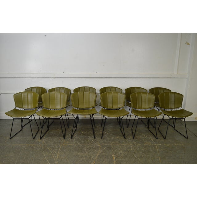 Bertoia for Knoll Mid Century Wire Side Dining Chairs - Set of 12 - Image 6 of 10