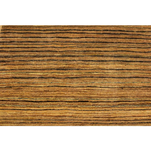 Textile Shabby Chic Gabbeh Peshawar Delfina Tan/Green Hand-Knotted Wool Rug -2'9 X 4'10 For Sale - Image 7 of 8