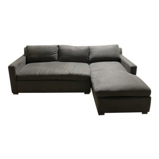 HD Buttercup RAF Chaise Charcoal Sectional For Sale