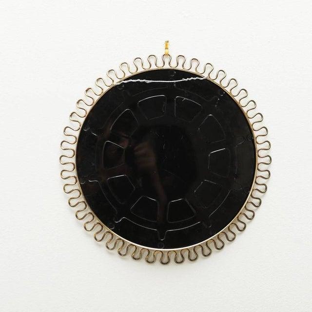 Mid-Century Modern Sculptural Brass Loop Mirror by Josef Frank for Svenskt Tenn Sweden, 1950s For Sale - Image 3 of 5