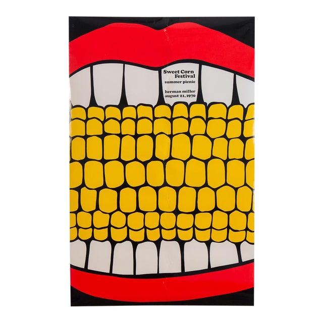 Herman Miller Summer Picnic Sweet Corn Festival Poster For Sale