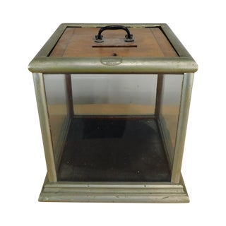 f.x. Ganther Manufacturer Baltimore Antique Nickel Plated Ballot Box For Sale