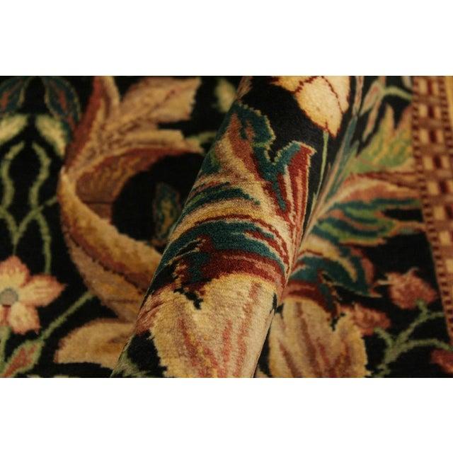 Contemporary Art Nouveau International Pak-Persian Latanya Black/Ivory Wool Rug - 4'1 X 5'1 For Sale - Image 3 of 8
