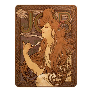 """1993 Alphonse Mucha Large Poster for """"Job"""" Cigarette Papers, First German Edition For Sale"""