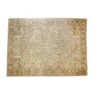"Vintage Distressed Heriz Carpet - 8'5"" X 11'6"" For Sale"