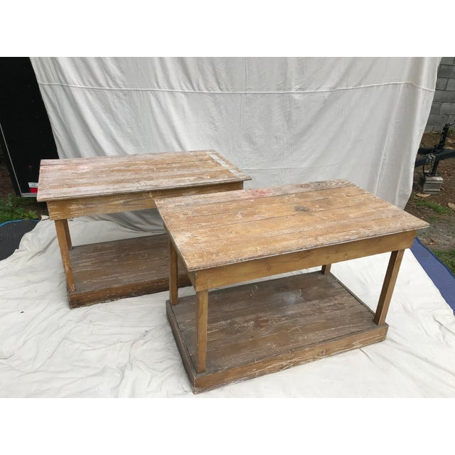 Antique Southern Primitive Work Tables - a Pair For Sale - Image 13 of 13