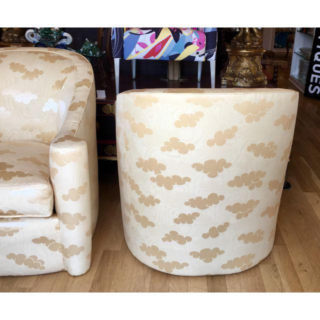 Randy Esada Designs for Prospr Mid-Century Modern Barrel Club Chairs - A Pair For Sale - Image 4 of 5