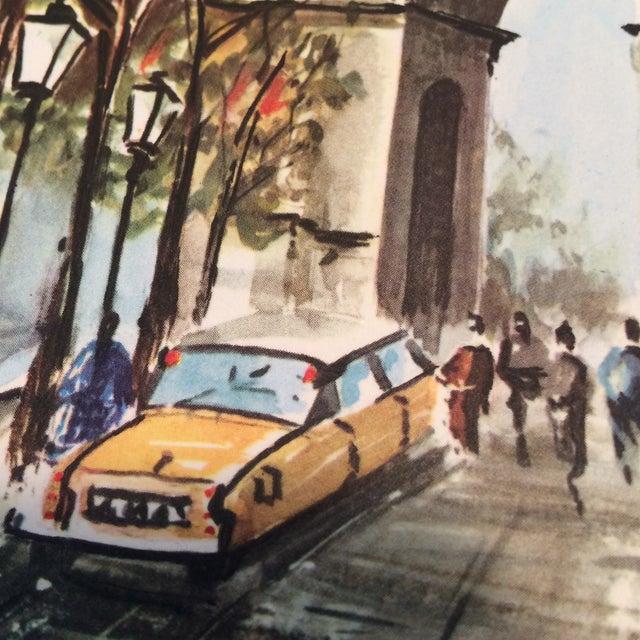 """Vintage Paris 1950's Litho """"Champs Elysees Arc de Triompe"""" by Ducollet - Image 10 of 11"""