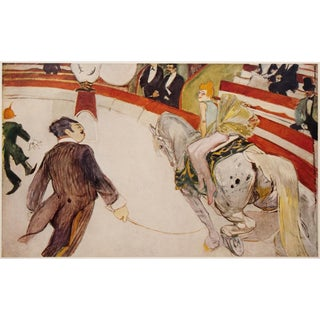 1950s French Lithograph of Cirque Fernando: The Equestrienne by Henri De Toulouse-Lautrec For Sale