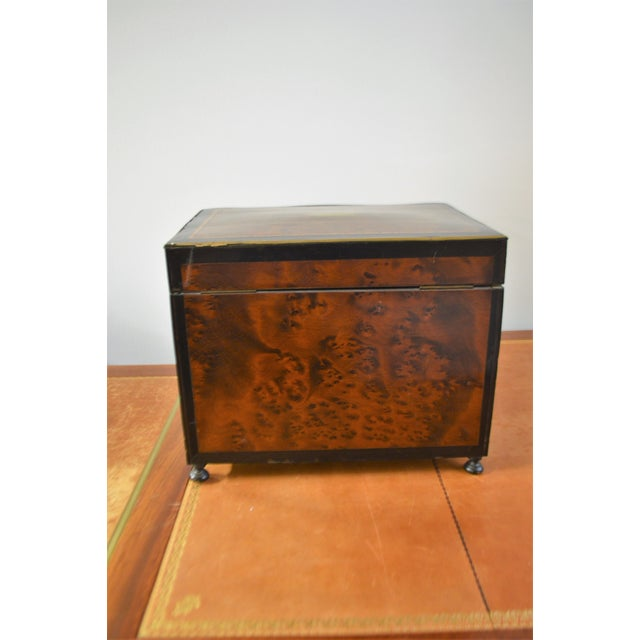 19th Century Portable Bar With the Origianal Etched Crystals Decanters and 14 Sherry Glasses Sitting in a Rosewood Box. For Sale - Image 9 of 11