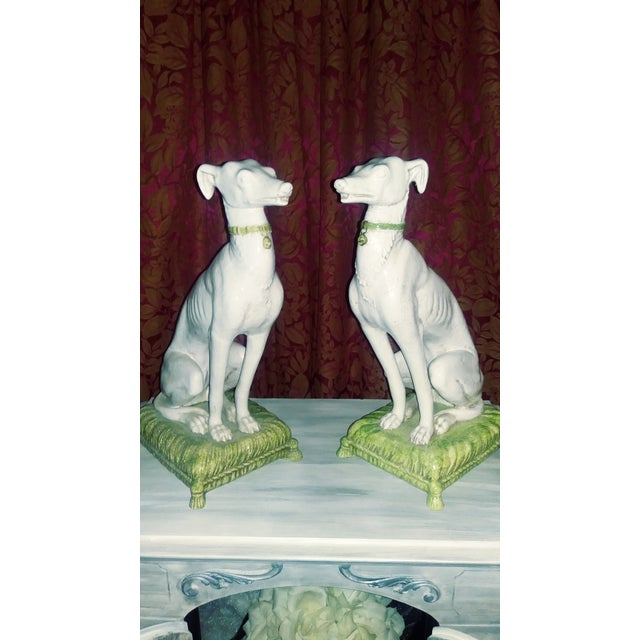 Vintage Italian Whippets Statues - a Pair For Sale - Image 11 of 11