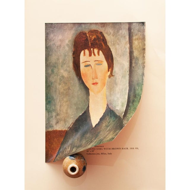 """1958 Modigliani, """"Young Girl With Brown Hair"""" First English Edition Lithograph For Sale In Dallas - Image 6 of 11"""