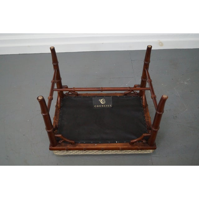 Councill Craftsman Faux Bamboo Ottoman - Image 8 of 10