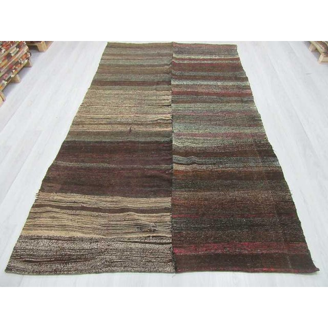 Vintage modern kilim rug from Afyon region of Turkey. Approximately 50-60 years old.In very good condition.