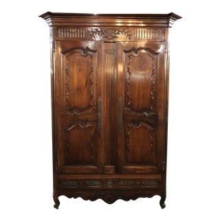Early 19th Century Antique French Louis XV Armoire For Sale
