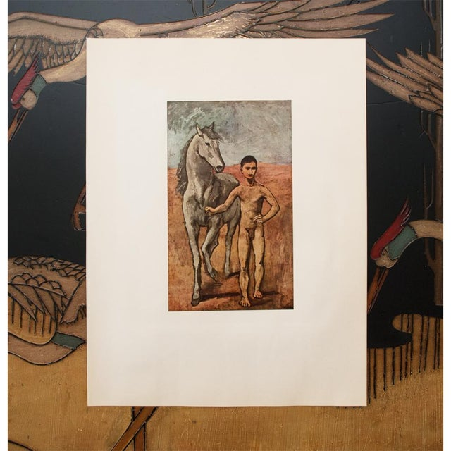 """1950s 1950s Picasso, Original """"Boy Leading a Horse"""" Period Lithograph For Sale - Image 5 of 10"""