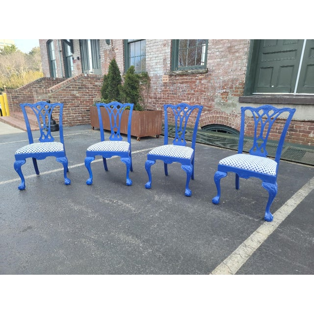 1980s Drexel Heritage Chippendale Chairs - Set of 4 For Sale - Image 11 of 12