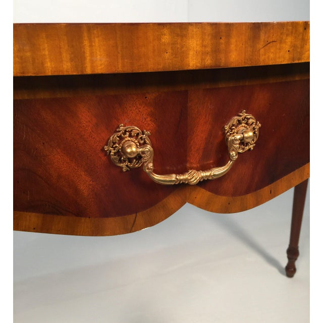 1990s English Traditional Maitland Smith Demi-Lune Console Tables - a Pair For Sale - Image 12 of 13