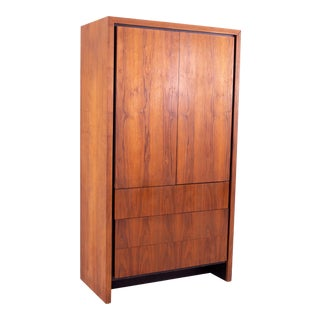 1960's Dillingham Mid Century Walnut Armoire For Sale