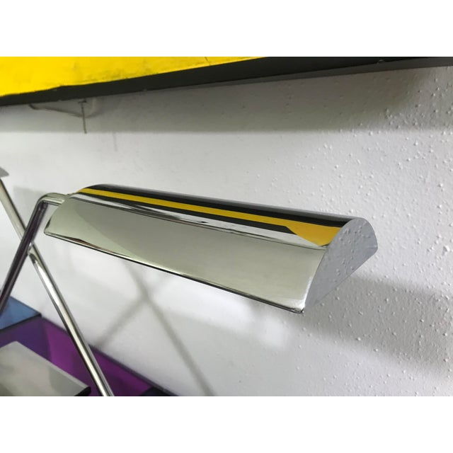 Koch & Lowy Koch & Lowy Articulating Chrome Desk Lamps, a Pair For Sale - Image 4 of 10