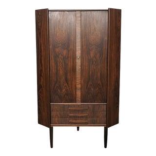 Original Danish Rosewood Corner Cabinet - Thomas For Sale