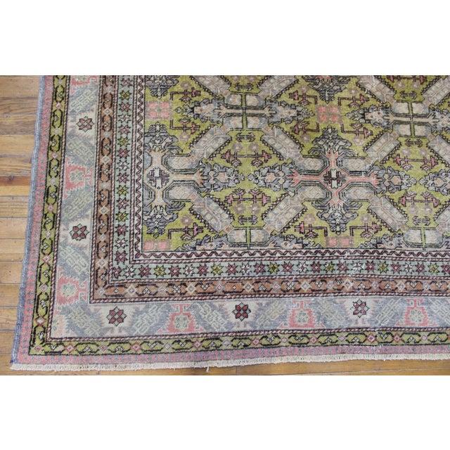 6.7x9.4 Feet Oriental Turkish Antalya Vintage Rug - Image 4 of 9
