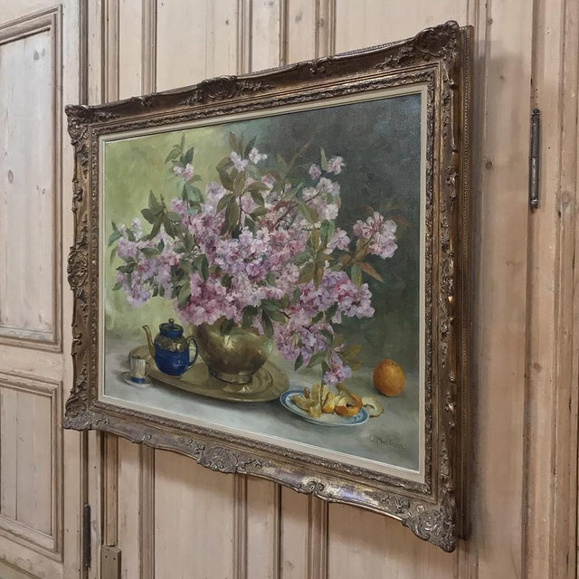 Russian Framed Oil Painting on Canvas For Sale - Image 4 of 11