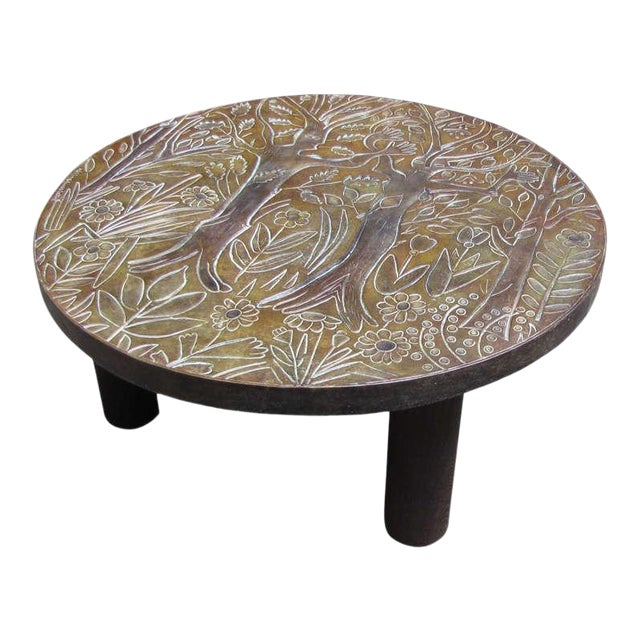 1940s Coffee Table by Helena Guastella For Sale