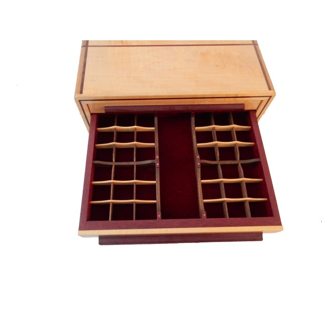 Contemporary Large Jewelry Box & Organizer For Sale - Image 3 of 11