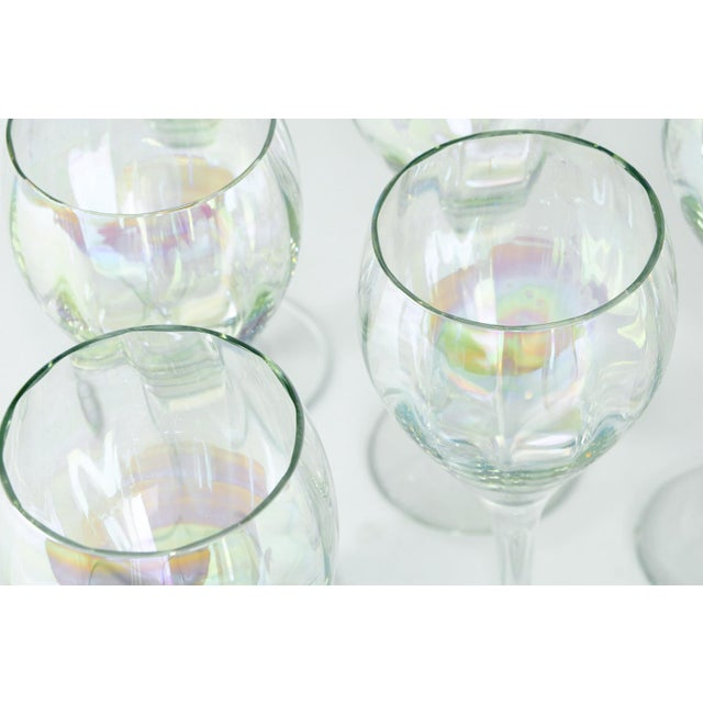 Late 20th Century Murano Iridescent Crystal Decanter - Set of 8 For Sale In New York - Image 6 of 7